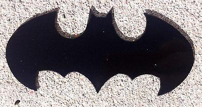 6 inch BATMAN Emblem Black Metal Wall Art Comic Ornament Magnet Stencil