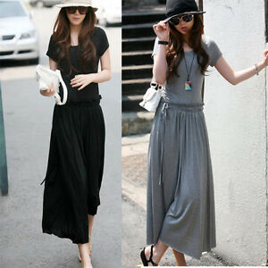 Korean-Fashion-Waist-Bandage-Pleated-Long-Sexy-Bohemia-Maxi-Cotton-Dress-P072