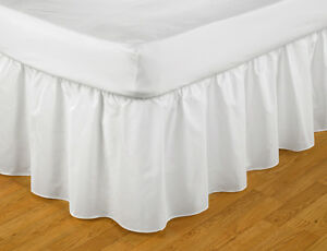 Frilled Easy Fit Valance Ivory Single Bed Size 91cm x 191cm x 41cm Drop - BRADFORD, West Yorkshire, United Kingdom - All returns are accepted with a full money back guarantee on all products returned within 14 days of purchase unused in full packaging. Most purchases from business sellers are protected by the Consumer Contract  - BRADFORD, West Yorkshire, United Kingdom