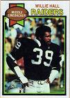 1979 Topps Willie Hall Oakland Raiders #235 Football Card