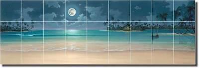 Miller Tropical Seascape Beach Art Ceramic Tile Mural