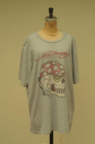 Ed Hardy T-Shirt Sixe XXL Melrose Los Angeles CA Skull Jockey Goggles Heart