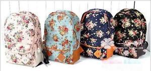 New-Women-girl-lady-Fashion-Vintage-Cute-Flower-School-Book-Campus-Bag-Backpack
