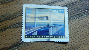 "USA Stamp, SUNSHINE SKYWAY BRIDGE, USA $5.15, 2012, 1-1/2"" x 1-1/4"""