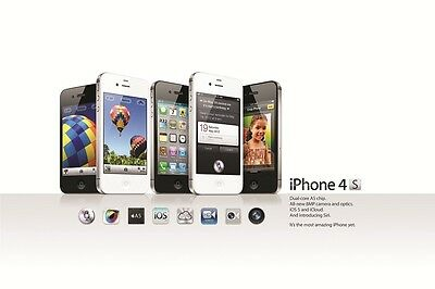 2ft x 3ft Apple iPhone 4S Premium Fabric Poster Print for Window, Wall, or Frame