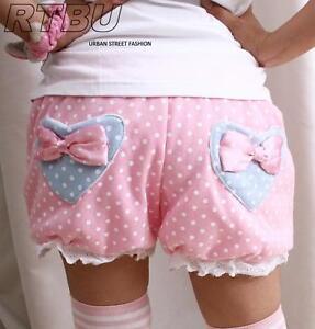 Candy-BabyDoll-Japan-Decora-Pastel-Pink-Polkadot-Pumpkin-Diaper-Bloomer-Shorts