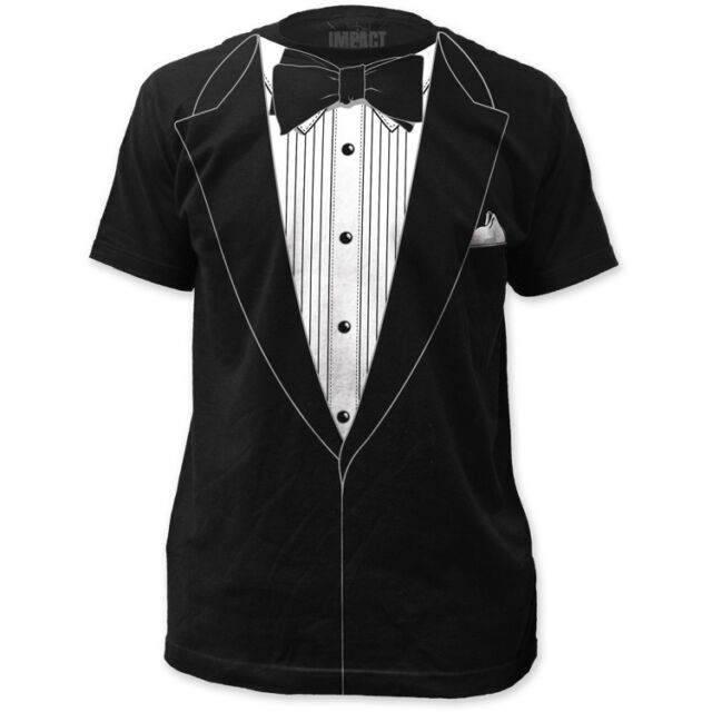 Formal Suit Tuxedo Tux Prom Wedding Groom Costume Outfit T-shirt top tee S-3XL