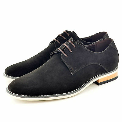 New Mens Faux Suede Casual Formal Lace Up Brogue Shoes In UK Sizes 6-11