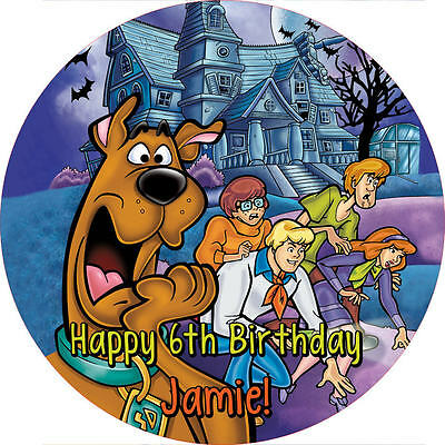 "Scooby Doo 7.5"" ROUND Cake Topper Rice Paper/Icing 24HR POST!"