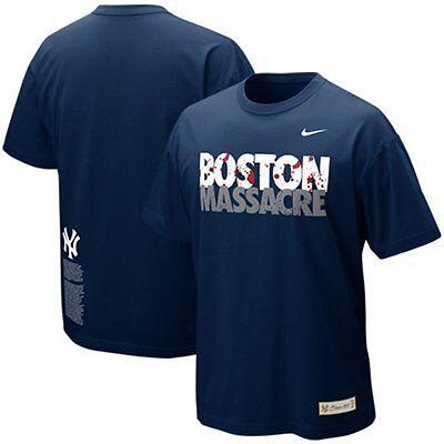 New York Yankees Nike Rivalry Boston Massacre T-Shirt Small, Medium, Large