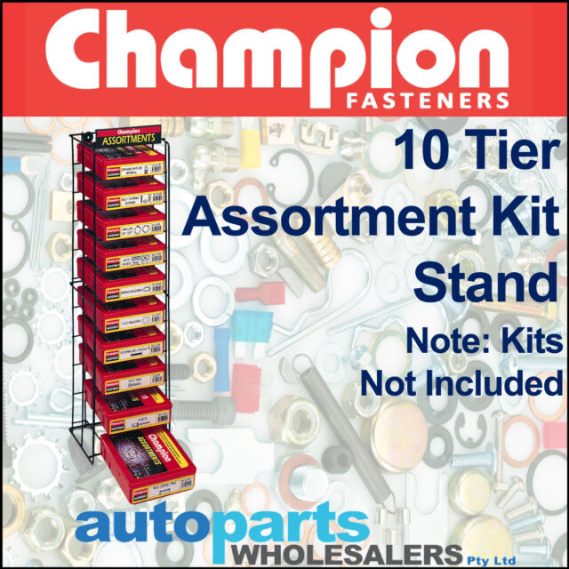 CHAMPION KIT STORAGE SYSTEM 10 TIER ASSORTMENT DISPLAY STAND (KITS NOT INCLUDED)