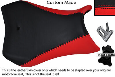 RED & BLACK TWO TONE CUSTOM FITS YAMAHA R 125 YZF 08-12 LEATHER SEAT COVER