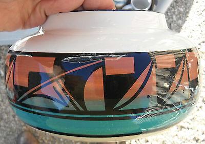Ute Mtn/Mountain Pottery,Colorado,Native American  bowl/pot,HPtd motifs,W.JACKET