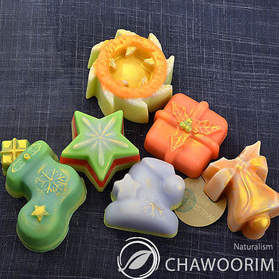 Christmas Tree Silicone Molds (1pcs with 6cav) Candle molds,Soap Molds for DIY