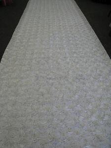 25-ft-Rosette-Satin-Fabric-48-034-Aisle-Runner-22-Colors-Spiral-Rose-Wedding-Luxury