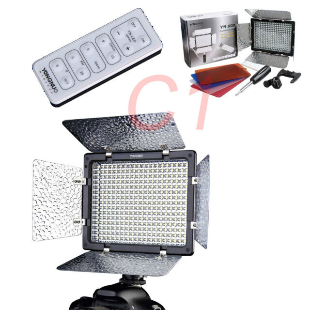 Yongnuo YN-300 YN300 LED Video Light Illumination For DSLR Cameras + IR Remote