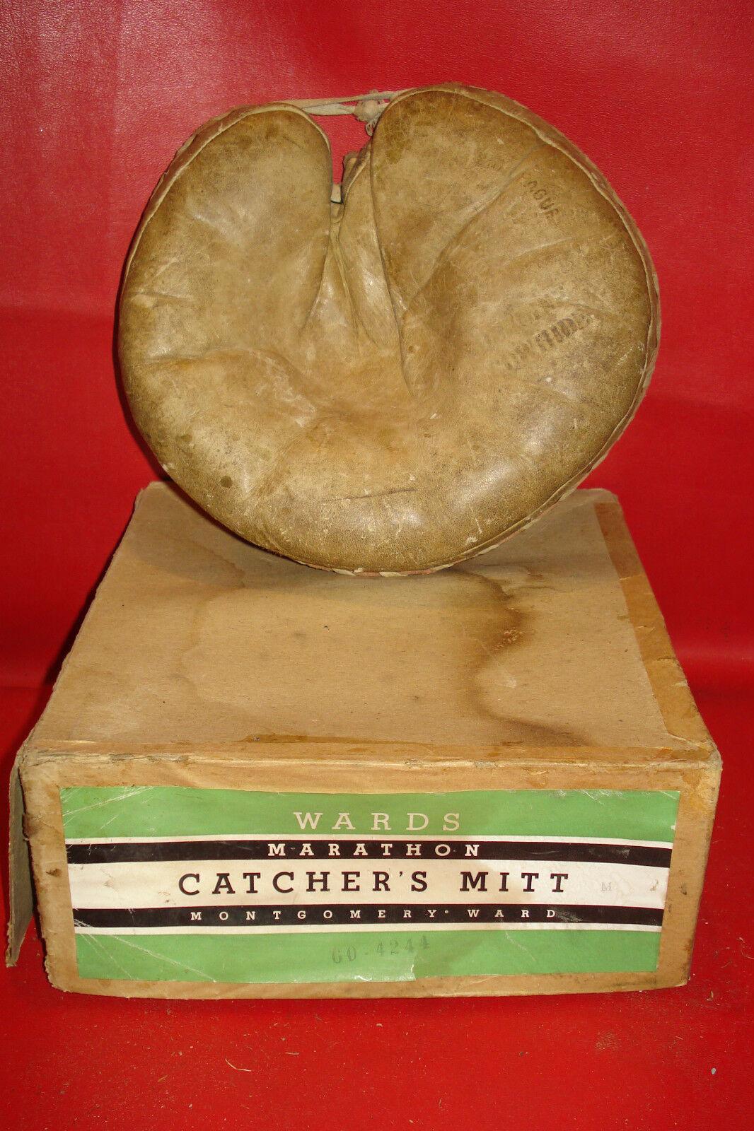 Caja Original & Atrapador Mitt Montgomrey Rejillas Marathon Guante de Béisbol