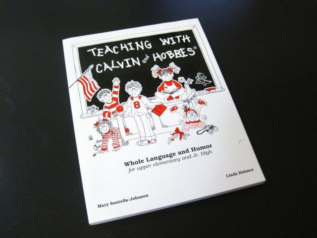 TEACHING WITH CALVIN AND HOBBES Bill Watterson Comics Rare School Text Book 1 Ed