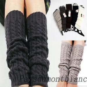 High-Quailty-Women-Crochet-Fashion-Leg-Warmers-Legging-Winter-Knit-5-Colors-3664