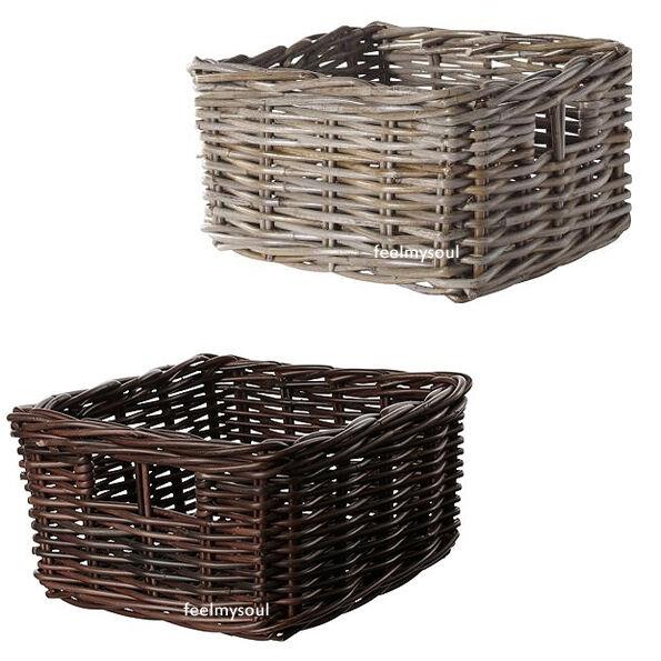 Ikea Handwoven Organizer Storage Box Basket Brown or Gray Brand New