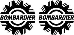 """3.5"""" Custom Bombardier Decal Autocollant Paire-l @ @ K-afficher Le Titre D'origine"""