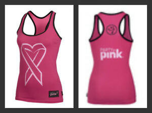 nwt zumba party in pink love racerback zumba top zumba. Black Bedroom Furniture Sets. Home Design Ideas