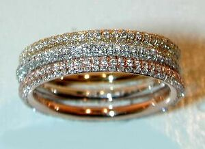 .42CT PAVE ETERNITY RING IN PINK, YELLOW OR WHITE GOLD