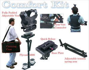 Steady-Flycam-5000-Stabilization-System-Comfort-Vest-Arm-fr-DV-DSLR-Video-Camera