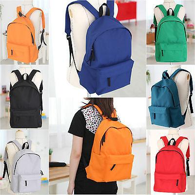 Mens Womens Backpacks 600D Vivid Basic Classic School Book Bag Rucksack Satchel