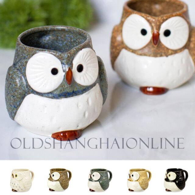 Cute Owl Mug Tea Cup Collectible Ceramic 8oz Kotobuki Japan