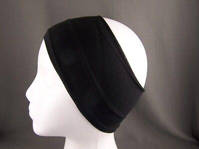 Black super extra wide soft stretch elastic hair headband comfy sport 4.25 inch