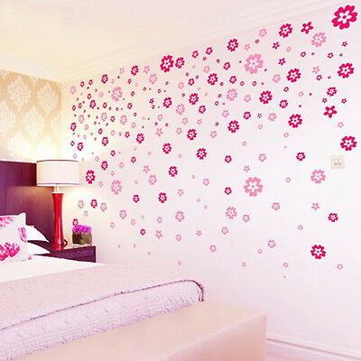 108 Flowers 7 Color Fashion Wall Vinyl Decal Art DIY Home Decor Wall Stickers