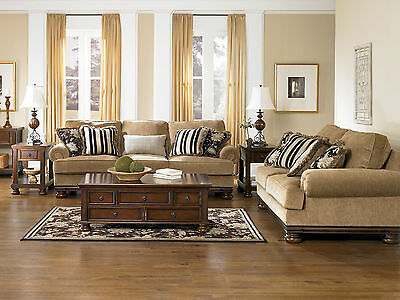 BASTIA   TRADITIONAL WOOD TRIM OVERSIZED SOFA COUCH LOVESEAT NEW LIVING  ROOM SET
