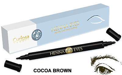 Henna Eyes Eye & Brow Liner Almost Semi-Permanent Thick/Thin Double Ended Pen -