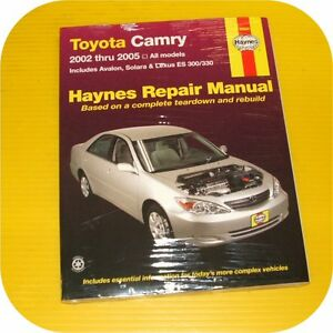 repair manual book toyota camry avalon lexus es 300 330 ebay. Black Bedroom Furniture Sets. Home Design Ideas