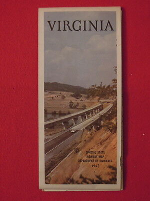 1967 Virginia Foldout map by Department of Highways
