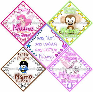 Personalised-Baby-On-Board-Car-Signs-Custom-Design-Available