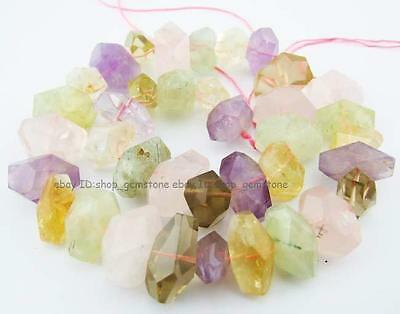 """13mmx20mm Natural Baroque Nugget Faceted Mix Stone Gemstone Beads 16"""""""