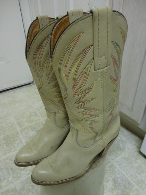 VINTAGE 70'S FRYE BOOTS MOTORCYCLE WESTERN GREAT COND MADE IN USA COWGIRL