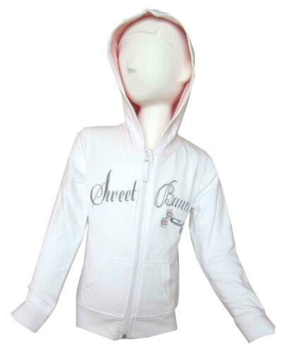 Girls New Full Zip Hoodie//Hooded//Hoody /'Sweet Bunny/' Motive Ages 12M-6Years