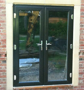 Upvc french doors 1100mm 1200mm various colours for Brown upvc patio doors