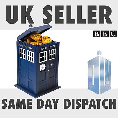 New Official Doctor Dr Who TARDIS Cookie Jar Biscuit Tin with lights + sound