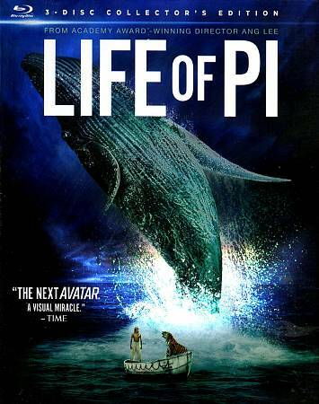 Life of Pi 3D  (Blu-ray 3D+Blu-ray+DVD+Digital HD, 2012)  NEW w/ Slipcover