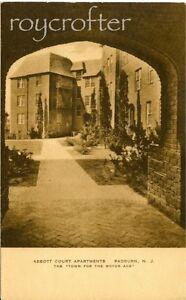 Abbott-Court-Apts-Radburn-Fair-Lawn-NJ-8-034-x-10-034-Matted-Print-of-1930s-Postcard