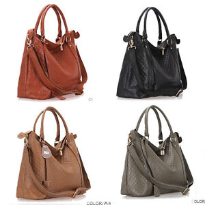 A8175-new-real-leather-women-039-s-bag-shoulder-bag-handbag-Tote-Hobo-lock-bag-purse