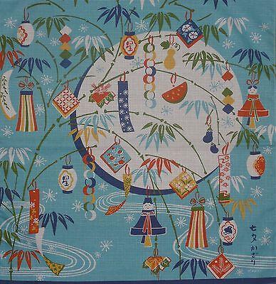 Furoshiki Japanese Fabric Cloth 'Tanabata Star Festival Decorations' Cotton 50cm