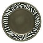 Jay Import Charge it by Jay Zebra Pewter Antique Charger Plates - Set of 4 - 1320002OS