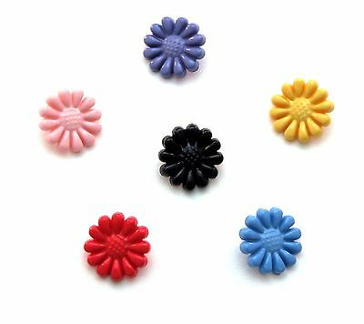"""Mini Daisy Novelty Buttons for Sewing Crafting Quilting 0.5"""" 1/2"""" 13mm 6 Colors"""