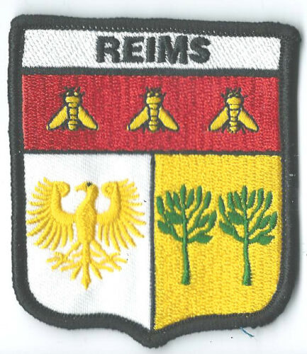 REIMS FRANCE FRENCH CREST FLAG WORLD EMBROIDERED PATCH BADGE**EXCLUSIVE**