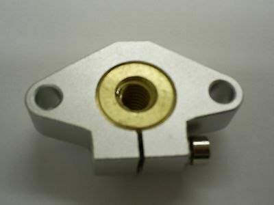 x1pce Cylindrical 10x2 Trapezoidal BRONZE Nut LRM10x2D in Flanged Housing